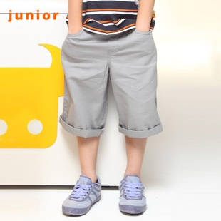 Giordano in summer 2012 new stock recommendation 12 boys embroidered calf routine seven-khaki shorts 120,037