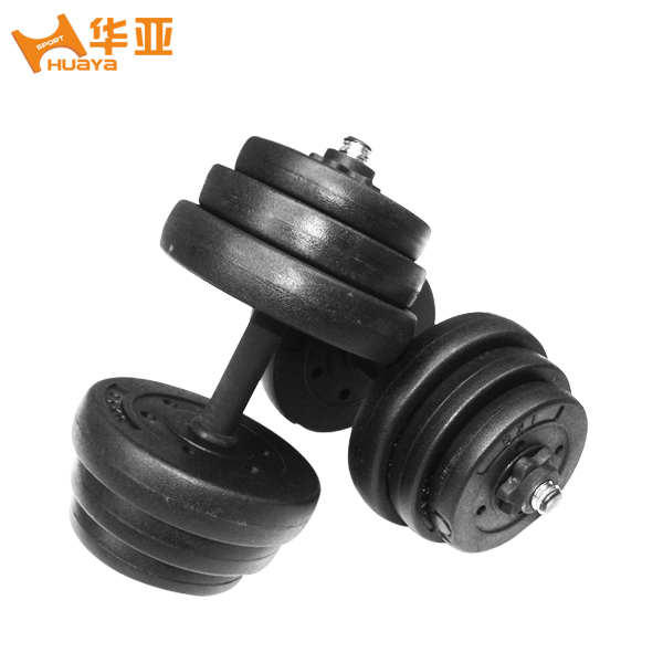 Huaya latest environmental tasteless foot heavy home fitness 10 20 30 40kg rubberized dumbbells section 包邮