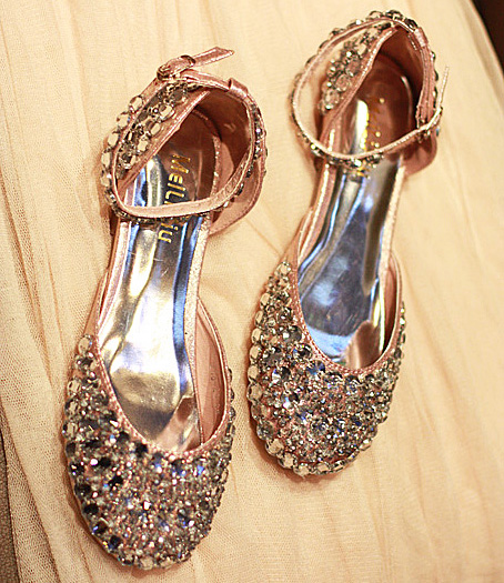 2014 new autumn Korean models explosion models princess bulingbuling sparkling crystal flat shoes women's singles