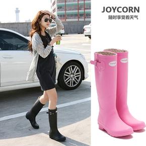 joycorn高筒哑光时尚女士雨鞋雨靴水鞋春夏新款韩版雨胶鞋水靴