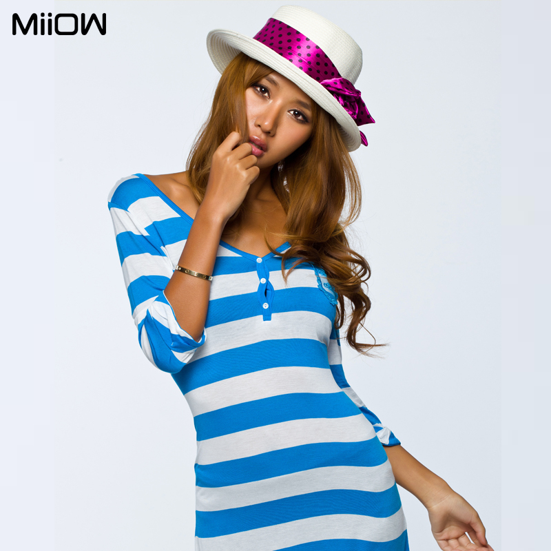 Cat new women weave a genuine wide-striped-shirt base in thin shirt home wear blouse
