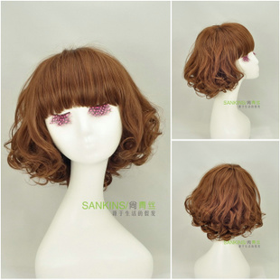 Bob sweet girls black hair Korea Edition design fluffy ladies wig short hair fashion hairstyle wigs