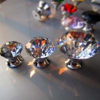 奢华现代拉手单孔钻石水晶五金锌合金橱柜门拉手抽屉拉手衣柜把手