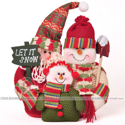 Hanxianglujin super cute snowman Christmas decoration Santa Claus family portrait A New Year's gift of Christmas gifts section