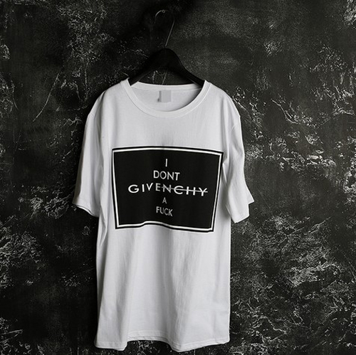韓國代購男裝歐洲站實拍進口pruvs 紀梵*givench字母短袖T恤