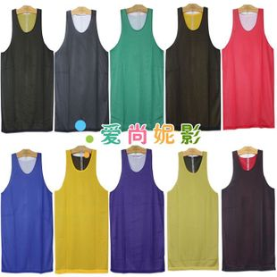 Genuine double-sided basketball basketball clothing vest wearing basketball clothes training suit vest competition suits on both sides mid layers