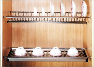 Корзина для посуды Корзина кабинета нержавеющей стали двойной блюдо блюдо стойку слейте из нержавеющей стали корзину блюдо стойку сливной корзина
