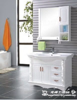 直销浴室柜组合高档橡木柜卫浴柜洁具洗手盆梳洗柜实木落地柜