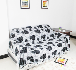 Black rose chenille towel fabric cushion sofa sofa couch cover sofa cover special offer limited time package mail