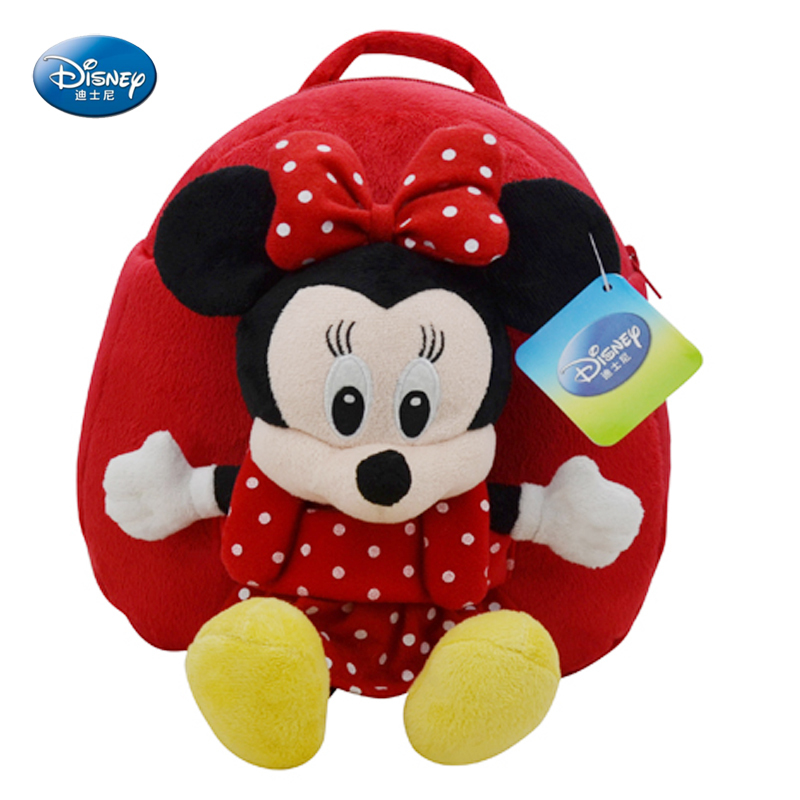 Disney International Children ' s Day gift authentic baby cute Minnie cartoon kindergarten school bags shoulder bags