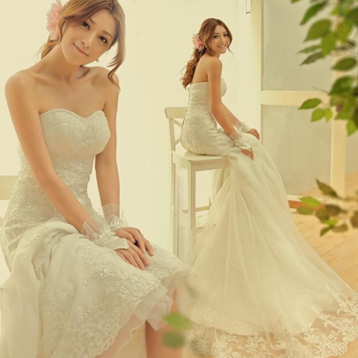 Свадебное платье Bridalbeauty 1011 2012 2012 Кружево Небольшой шлейф Милый