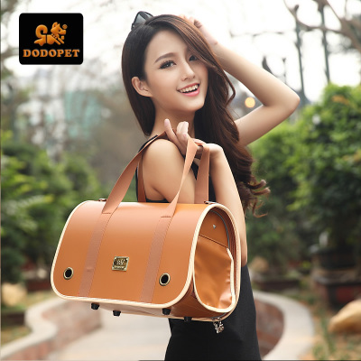 Grade PU fashion bag folding pet shoulder / hand / pet dog bag cat bag bag