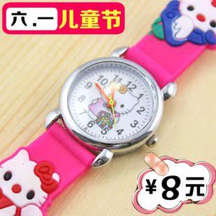 批价销售 可爱KT猫卡通胶表 韩版时尚儿童手表学生电子表女孩女表