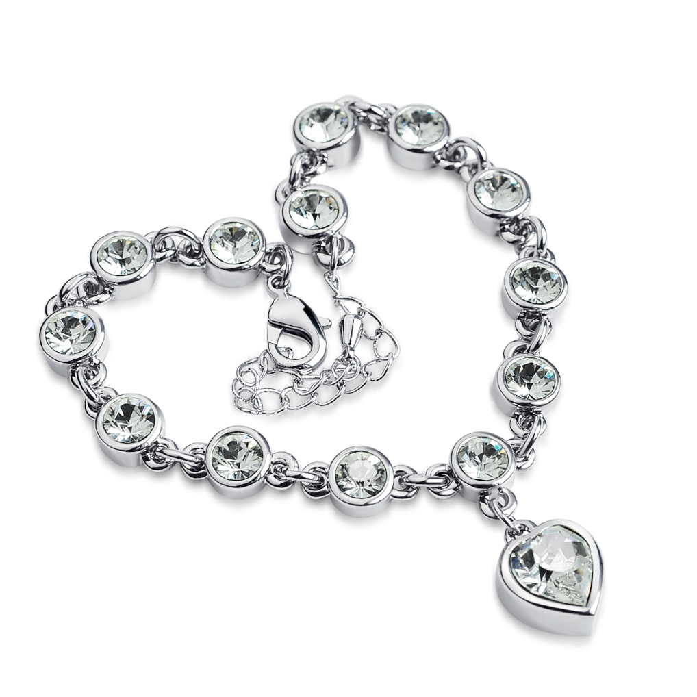 Ming Lin made with SWAROVSKI elements romantic CRYSTAL BRACELET LADIES, Korean fashion jewelry students