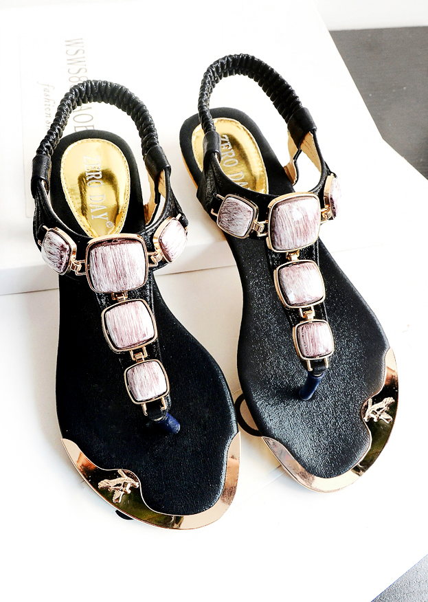 Sandals Shoes Korean fashion sweet singles shoes with flat thong sandals flat shoes summer new shoe foot