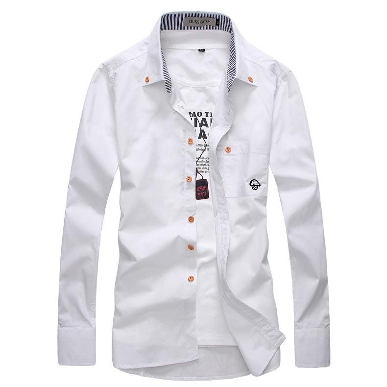 Рубашка мужская Gusskater B027