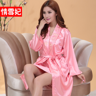 Love Snow Princess new spring and summer 2014 free shipping ladies long-sleeved gown embroidered suspenders sexy two-piece pajamas yards