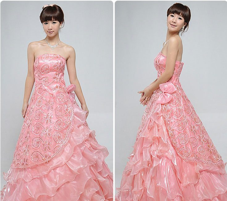 Вечернее платье Colorful wedding dress Square lf033 2011 Colorful wedding dress Square
