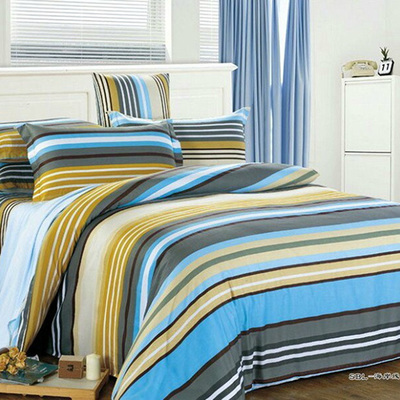 Genuine special Hengyuanxiang textile cotton twill quilt 180,220 single piece of cotton quilt striped clearance
