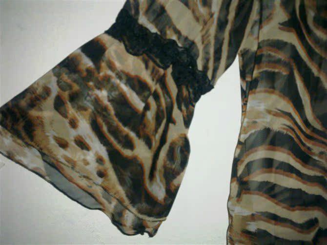 豹纹蕾丝雪纺