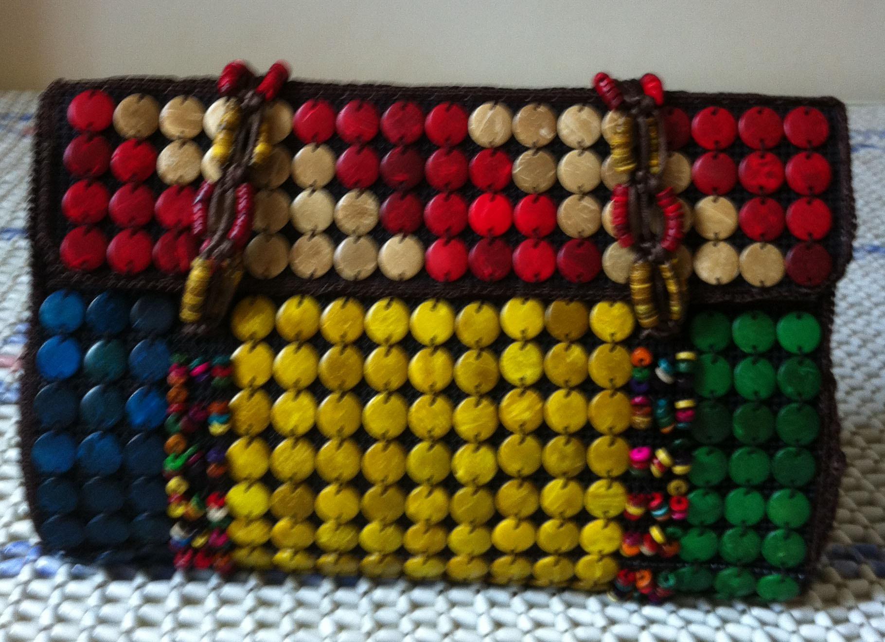 Сумка Урожай 2012 новый ручной кокосовой оболочки сумочка тенденция этнические сумка разноцветные бусы ручной