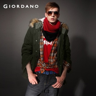 2012 Giordano jacket uniform coat men's detachable Cap bag 01071596
