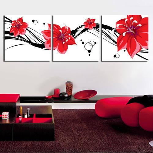 艺术 时尚 抽象 沙发背景无框画 三联画 客厅 卧室 装饰挂画 动情