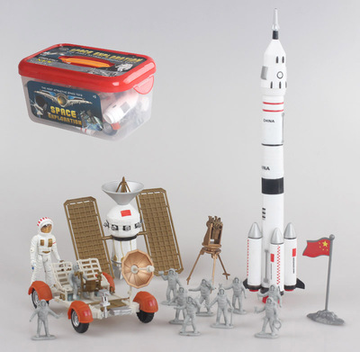 Free shipping space shuttle model assembled in space navigation satellite rocket model model toys gift box
