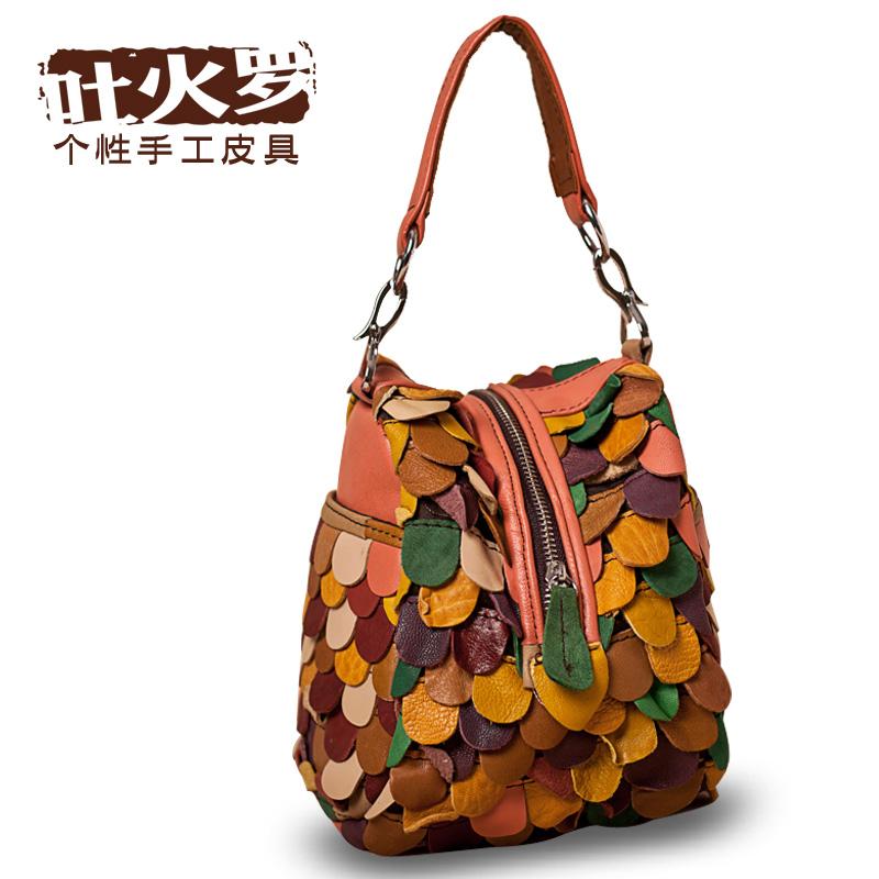 Сумка Tokharoi A023 -- Девушки Женская сумка Однотонный цвет Овечья кожа