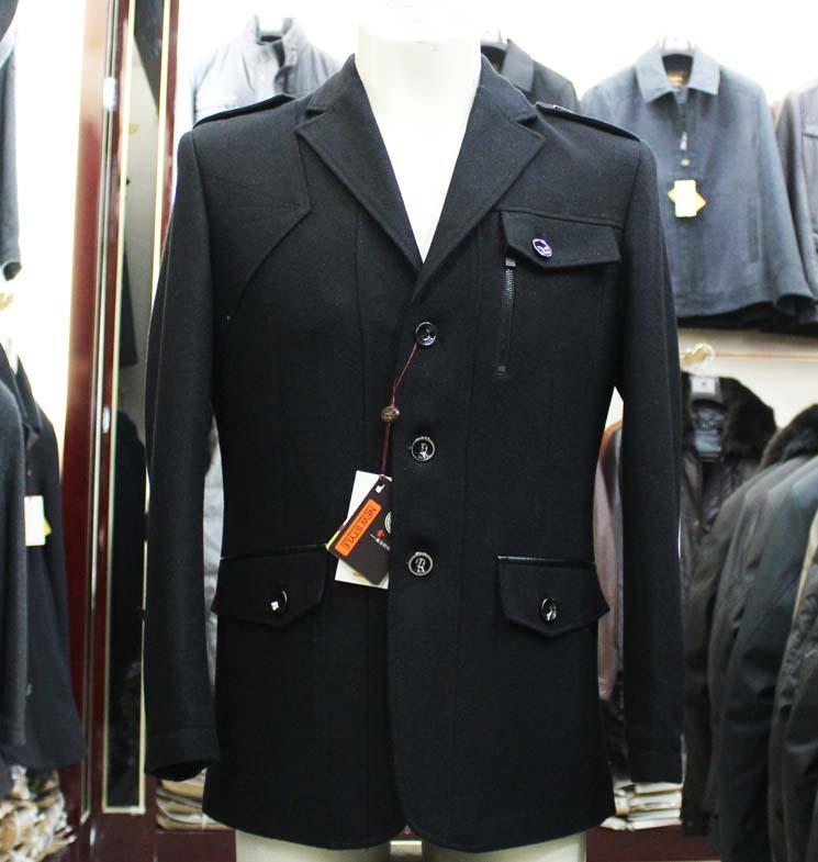 Пальто мужское Golden Shield Шерстяная ткань для пальто Костюмный воротник