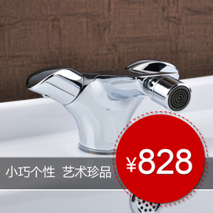 Logoo Valley of bath lanxinhui brass hot water-lavatory faucet single hole took  package mail