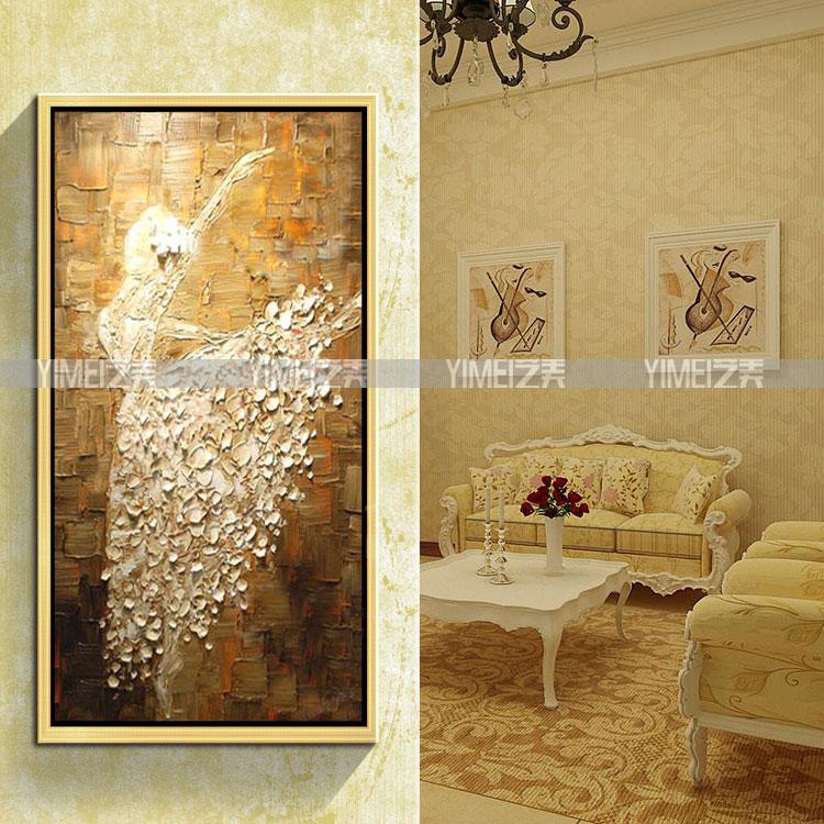 人物 客厅 油画/欧式高档客厅装饰画酒店别墅挂壁画纯手绘油画抽象人物 芭蕾舞者