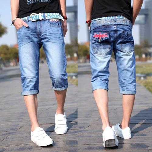 Джинсы мужские Others h8031 Облегающий покрой Тонкая джинсовая ткань Эксклюзивные корейский и японский стили