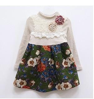 детское платье South Korean children's clothing ald890152/53 2012 Ald Юбка с ярусами Зима 100 хлопок Однотонный цвет % Для леди