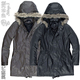 Man Vancl coat all guest sincere product quality goods army wind collars even cap (brown/black fashion