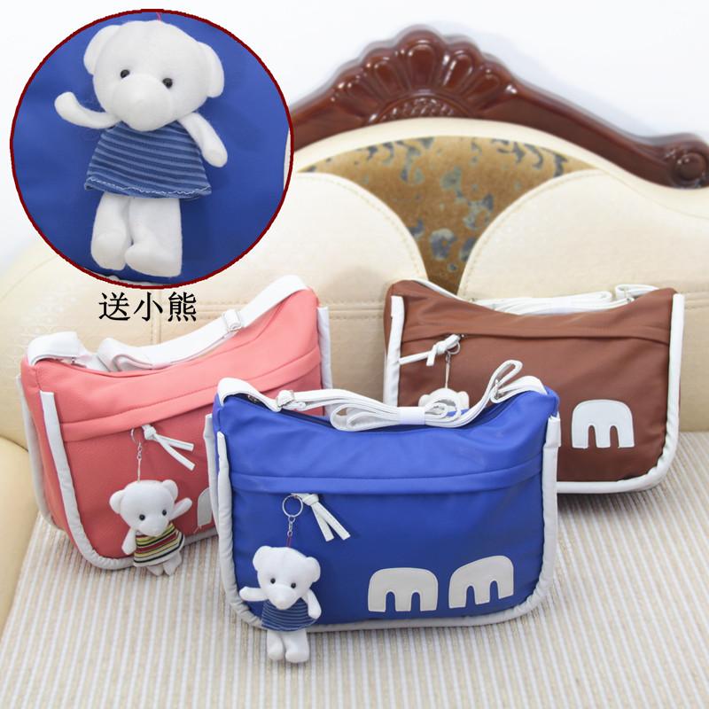 Сумка Наплечная сумка Messenger сумка студентка Корейский мигает Диагональ мешок мило свежие случайные мешочек корейский стиль