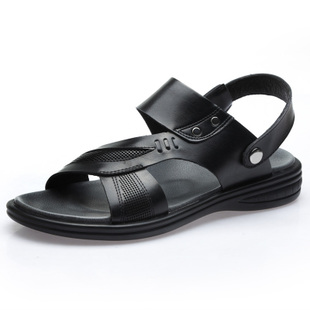 VOGU HOMME leather men Sandals daily leisure beach-shoes for men father shoes authentic men shoes G172-8