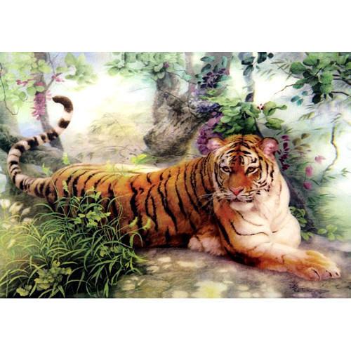 Фреска [Три золотые короны] трехмерной живописи/домашний декор панно/картины/3D картины (Тигр