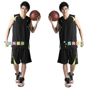 New authentic men's basketball training clothing set basketball games basketball clothing clothing clothing Rainbow blue ball suit lining