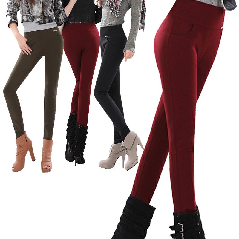 Женские брюки Осень/зима 12 новых корейской версии стрейч карандаш тонкий карандаш высокой талией брюки ноги брюки сделать сладкий случайные штаны