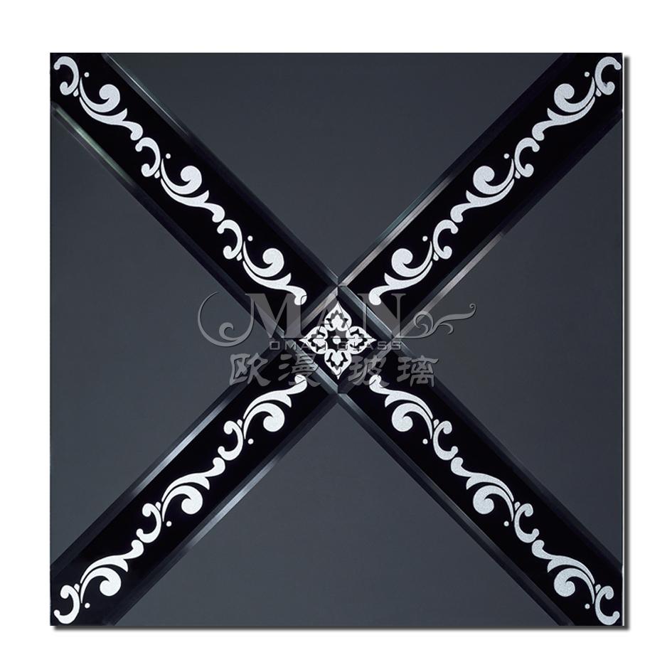 Стекло цветное Фабрика прямой элитного искусства стекла заклинание зеркало/экран раздела стены/ТВ/yj-001