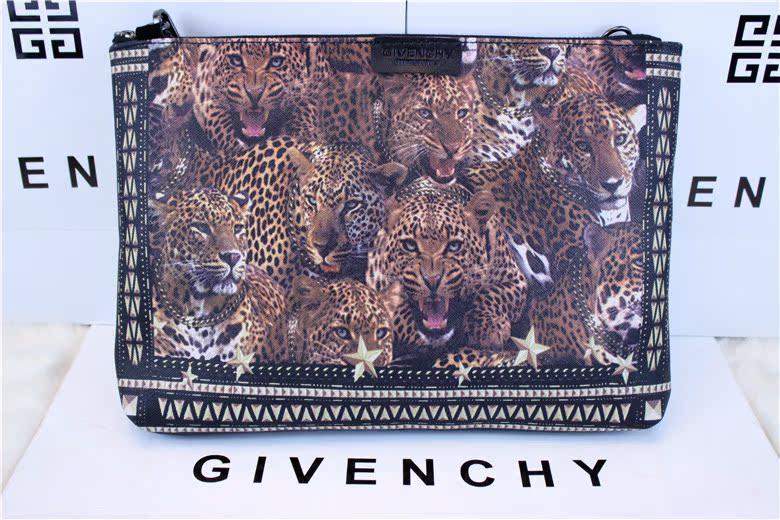 Сумка Электронной почте весной Givenchy сумочка леопарда печати одно плечо диагональная портативный iPad Сумки для мужчин и женщин в Европе и модельные повседневные