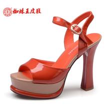蜘蛛王2014夏季新款女凉鞋正品简约宴会时装凉鞋舒适高跟防水台图片