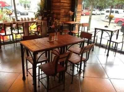 American country to do the old wood retro dinette suite tea bar restaurant cafe tables and chairs combination