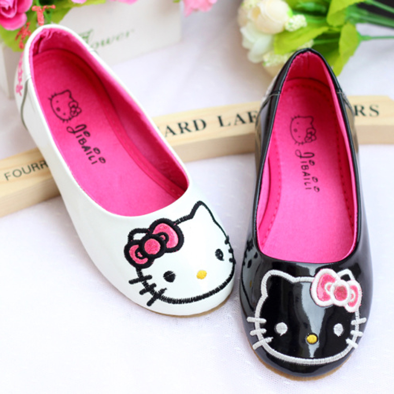 Spring 2014 new Korean girls cute kitty cat princess shoes flat shoes Children's Shoes child