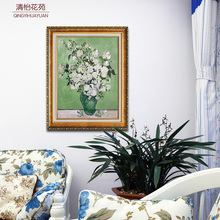 Qing yi garden of contemporary sitting room adornment household bedroom hangs a picture mural van gogh flowers framed copy canvas