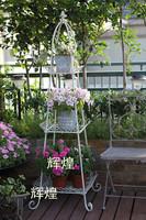 铁艺 花盆 阳台花架 花架 花器 复古典花架 种植花箱