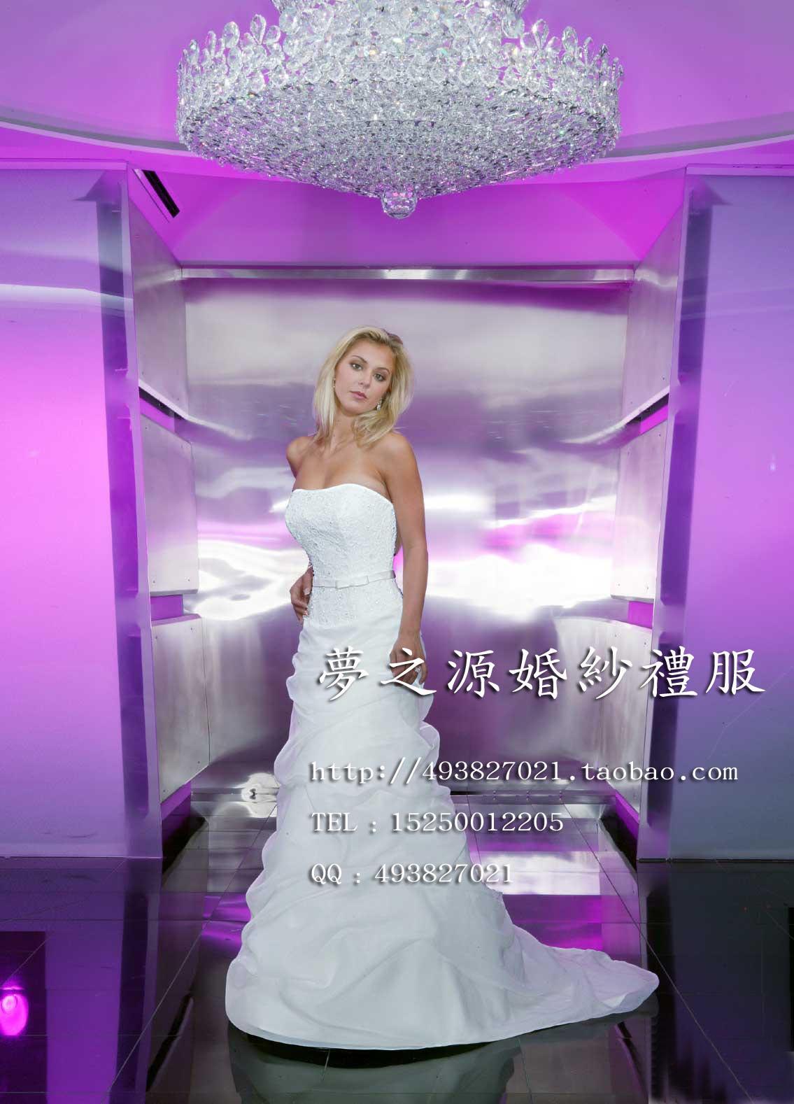 Свадебное платье 10 2012 Плотная ткань Небольшой шлейф Милый