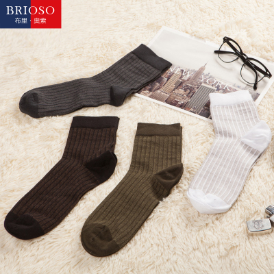 BRIOSO autumn new male socks combed cotton men's socks thin breathable socks men deodorant antibacterial tide authentic
