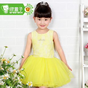 Green box Princess children kids children miss de mode pettiskirt dresses